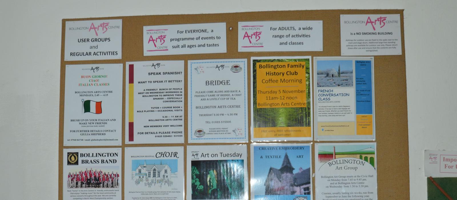 Bollington Arts Centre Newsletter